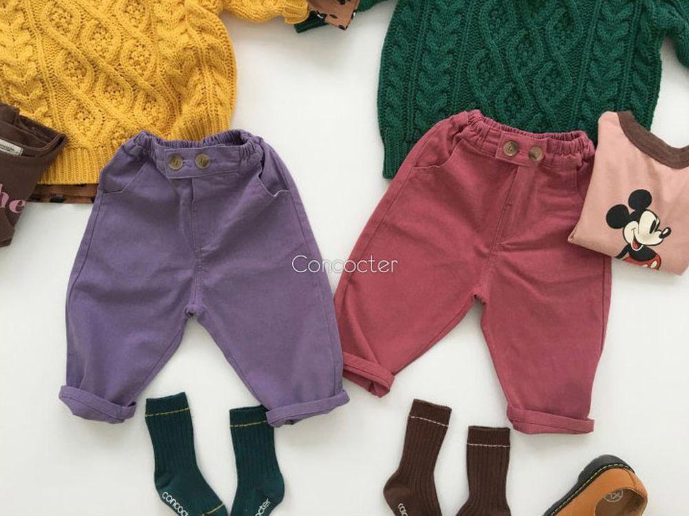 CONCOCTER - Korean Children Fashion - #Kfashion4kids - Color Cotton Pants