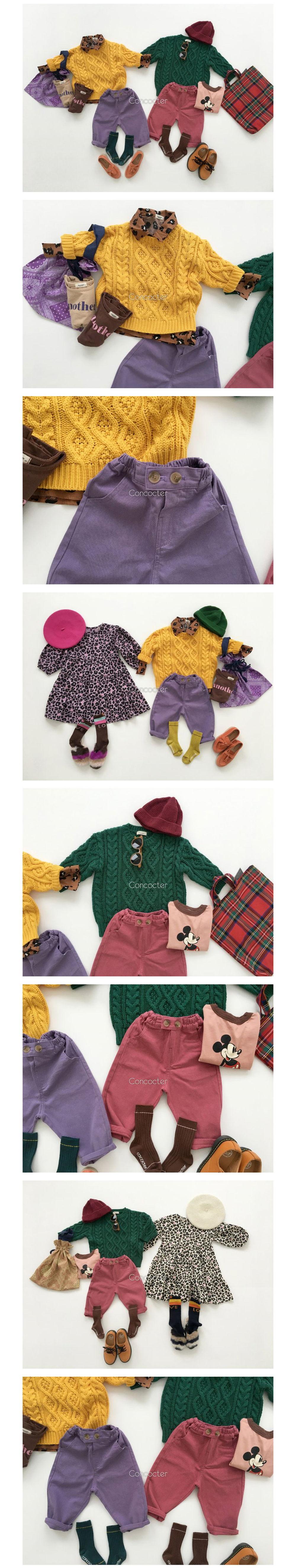 CONCOCTER - Korean Children Fashion - #Kfashion4kids - Color Cotton Pants - 2