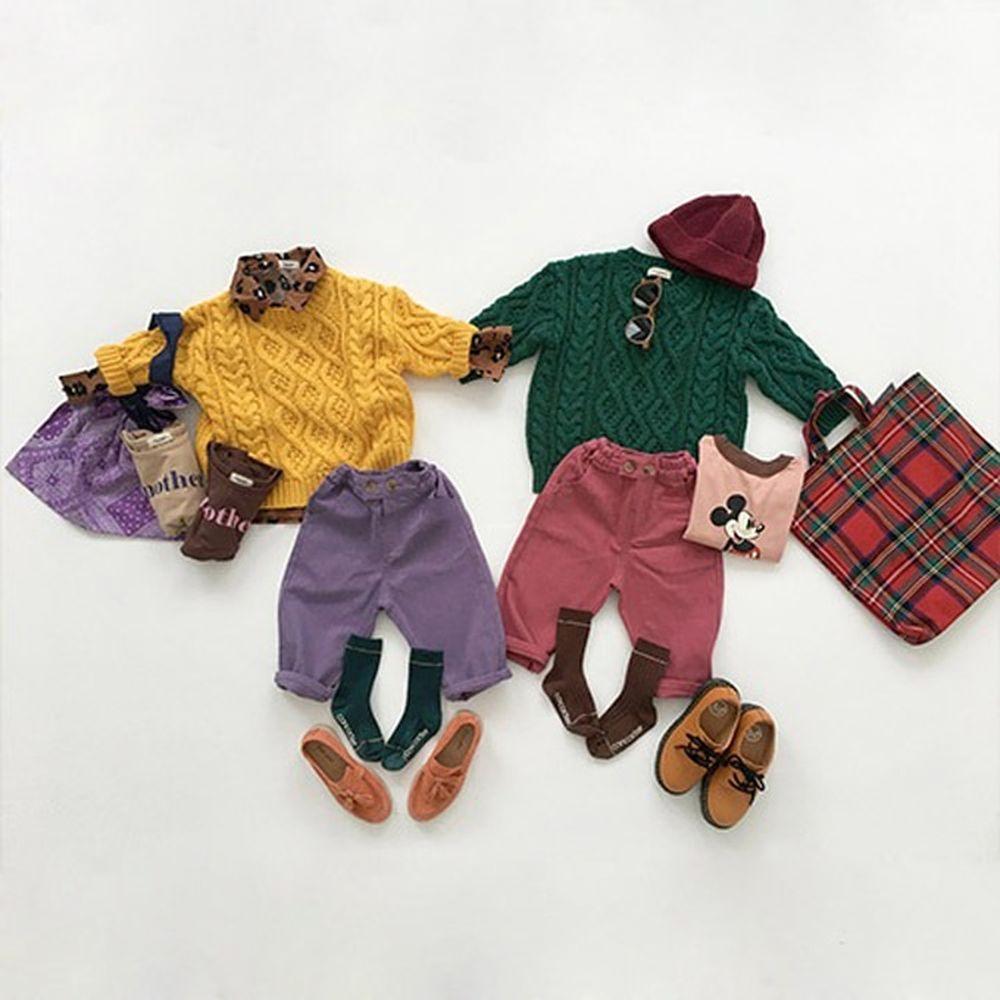 CONCOCTER - BRAND - Korean Children Fashion - #Kfashion4kids - Color Cotton Pants