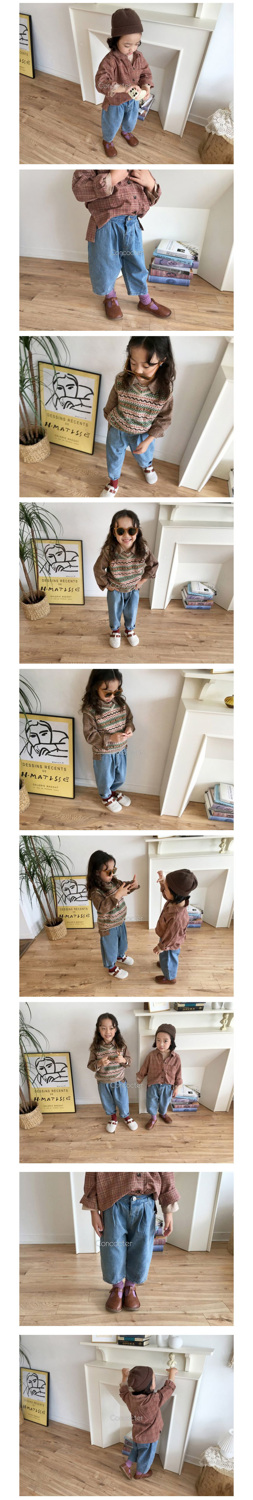 CONCOCTER - Korean Children Fashion - #Kfashion4kids - Come Back Dart Baggy Pants - 2