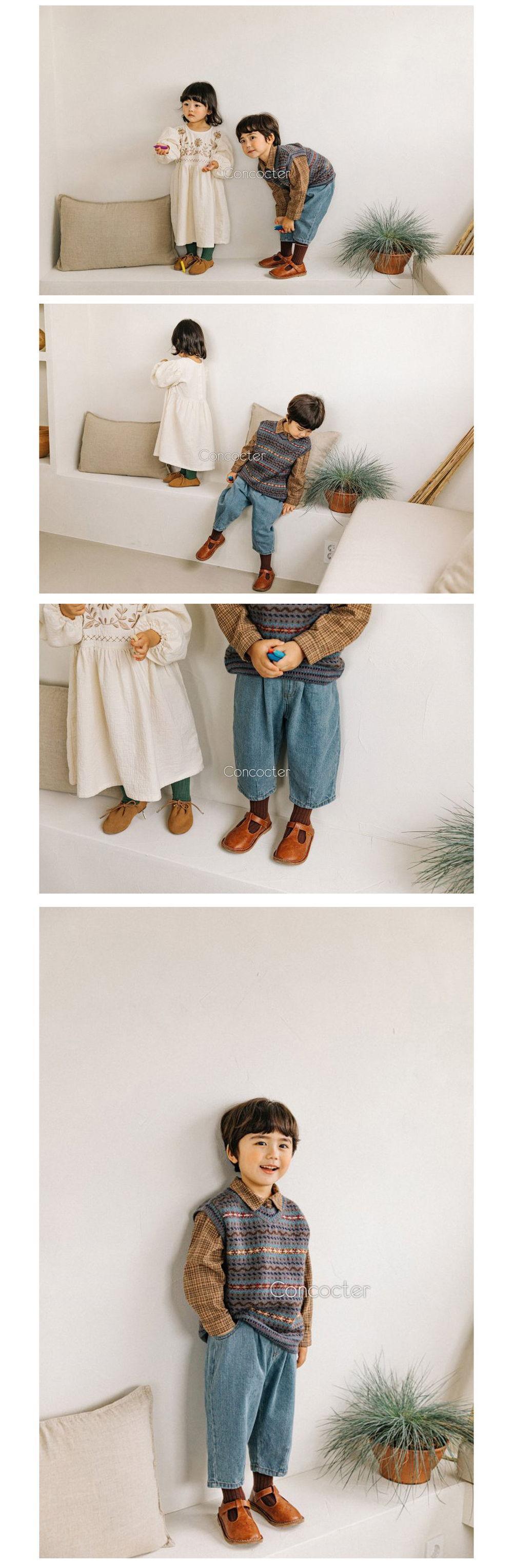CONCOCTER - Korean Children Fashion - #Kfashion4kids - Come Back Dart Baggy Pants - 3