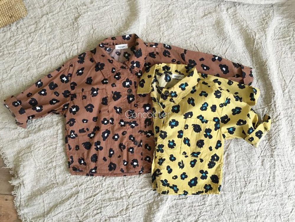 CONCOCTER - Korean Children Fashion - #Kfashion4kids - Honghong Leopard Shirt