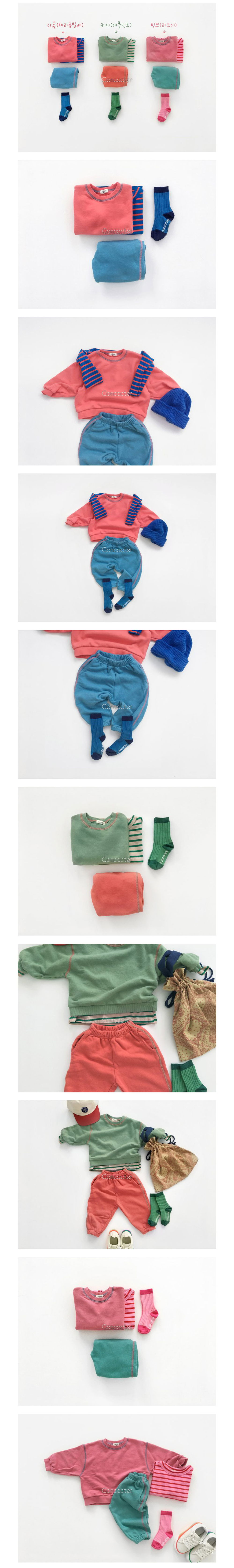 CONCOCTER - Korean Children Fashion - #Kfashion4kids - Tonton Colored Top Bottom Set