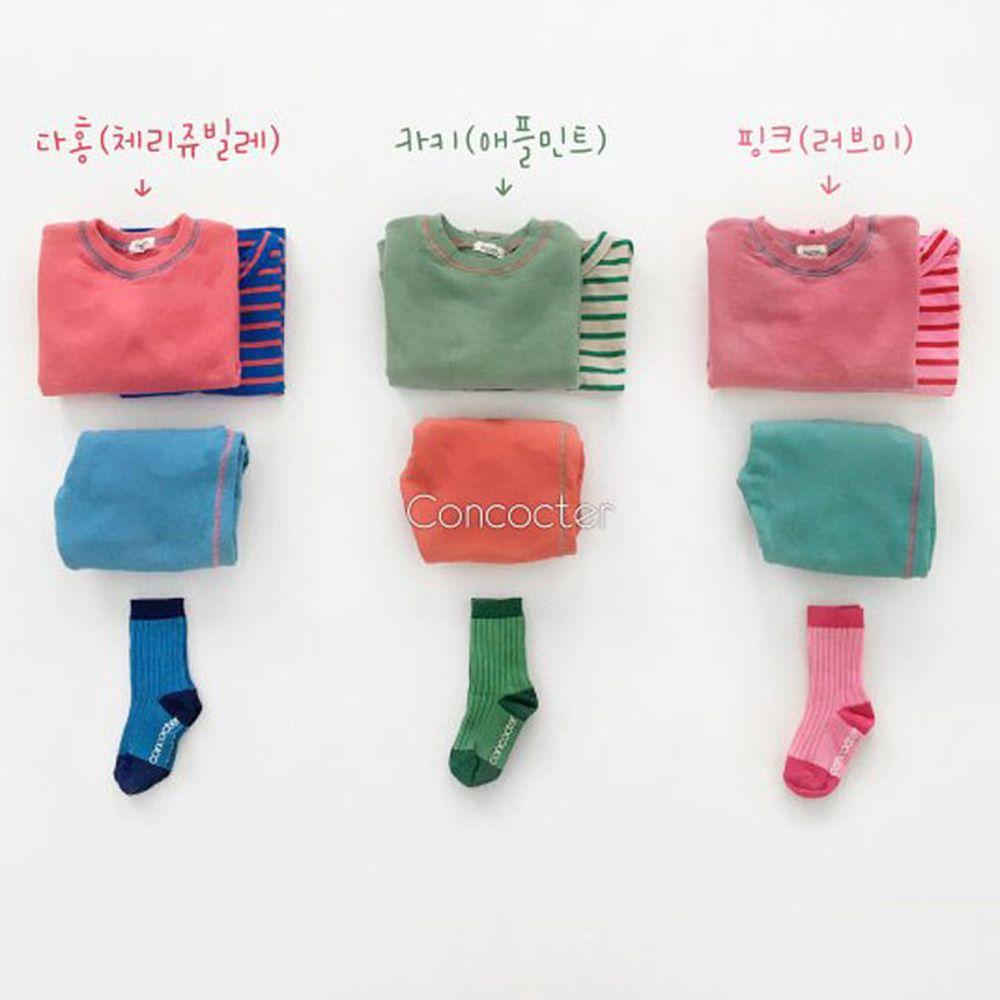 CONCOCTER - BRAND - Korean Children Fashion - #Kfashion4kids - Tonton Colored Top Bottom Set