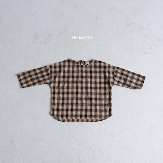 DE MARVI - Korean Children Fashion - #Kfashion4kids - Mim Check Blouse - 3