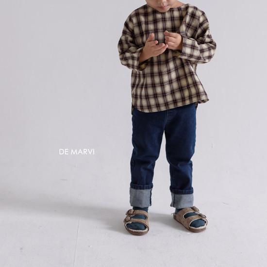 DE MARVI - Korean Children Fashion - #Kfashion4kids - Mim Check Blouse - 6