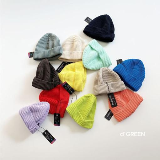 DIGREEN - BRAND - Korean Children Fashion - #Kfashion4kids - Short Color Knit Beanie