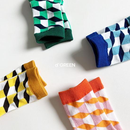 DIGREEN - Korean Children Fashion - #Kfashion4kids - Goyard Socks [set of 4] - 2