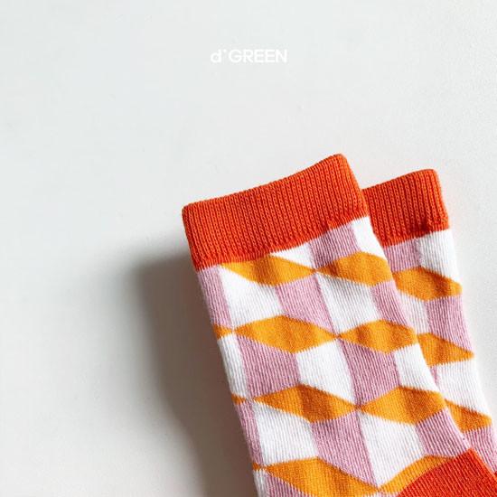 DIGREEN - Korean Children Fashion - #Kfashion4kids - Goyard Socks [set of 4] - 3