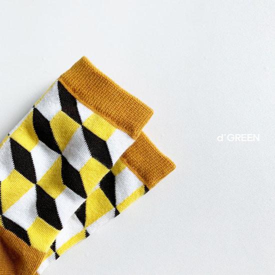 DIGREEN - Korean Children Fashion - #Kfashion4kids - Goyard Socks [set of 4] - 4