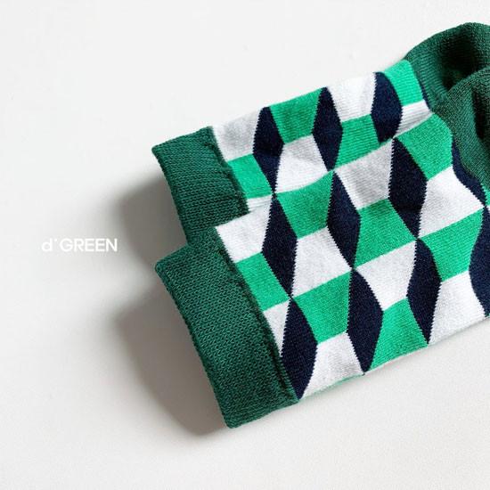 DIGREEN - Korean Children Fashion - #Kfashion4kids - Goyard Socks [set of 4] - 5