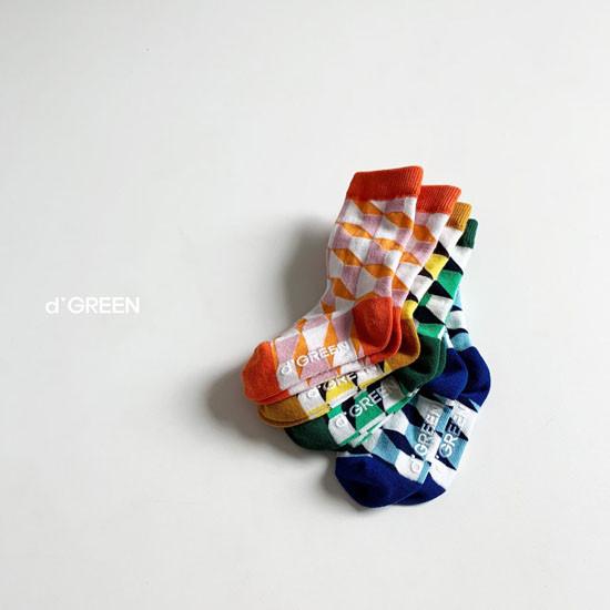 DIGREEN - Korean Children Fashion - #Kfashion4kids - Goyard Socks [set of 4] - 7