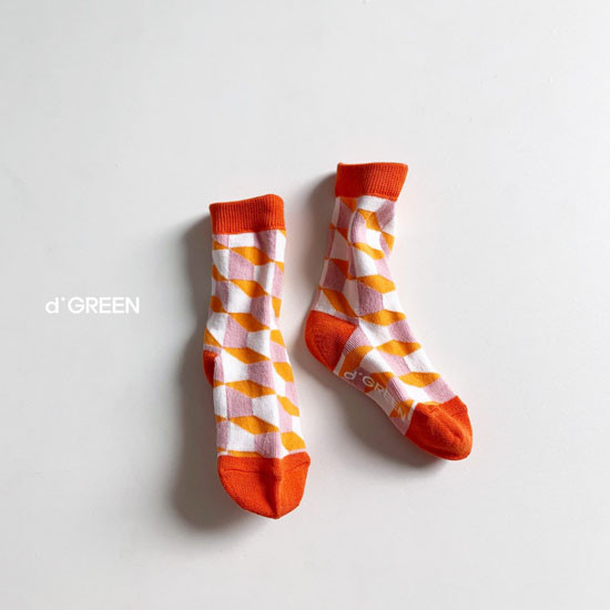 DIGREEN - Korean Children Fashion - #Kfashion4kids - Goyard Socks [set of 4] - 8
