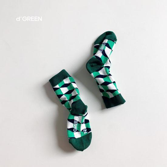 DIGREEN - Korean Children Fashion - #Kfashion4kids - Goyard Socks [set of 4] - 9