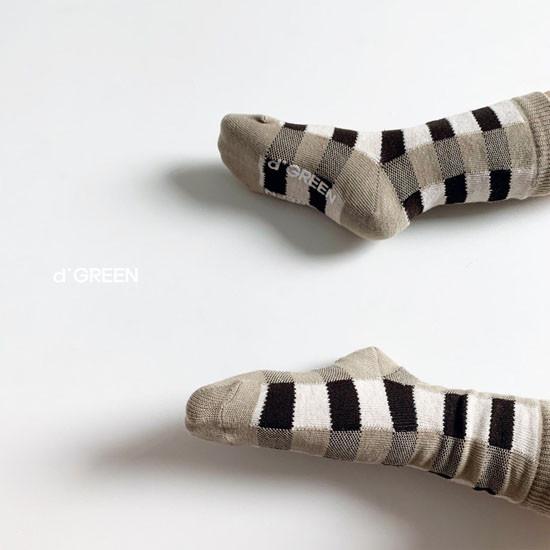 DIGREEN - Korean Children Fashion - #Kfashion4kids - Tone Check Socks [set of 5] - 11