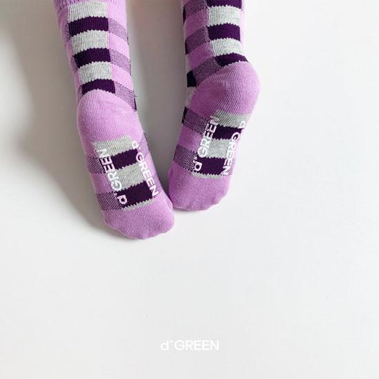 DIGREEN - Korean Children Fashion - #Kfashion4kids - Tone Check Socks [set of 5] - 12