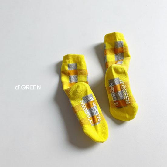 DIGREEN - Korean Children Fashion - #Kfashion4kids - Tone Check Socks [set of 5] - 8