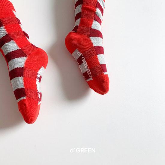 DIGREEN - Korean Children Fashion - #Kfashion4kids - Tone Check Socks [set of 5] - 9