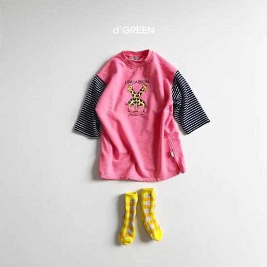 DIGREEN - Korean Children Fashion - #Kfashion4kids - Giraffe One-piece - 6