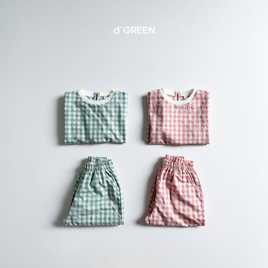 DIGREEN - Korean Children Fashion - #Kfashion4kids - Slow Top Bottom Set
