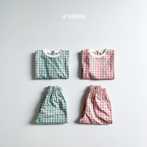 DIGREEN - BRAND - Korean Children Fashion - #Kfashion4kids - Slow Top Bottom Set