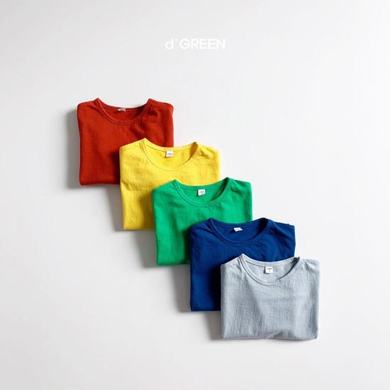 DIGREEN - Korean Children Fashion - #Kfashion4kids - Color Paper Tee