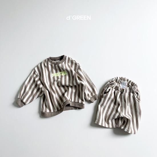 DIGREEN - Korean Children Fashion - #Kfashion4kids - Vertical Lines Top Bottom Set - 5