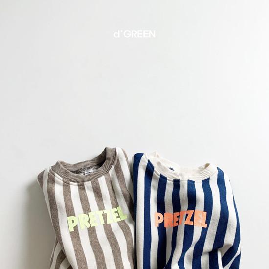 DIGREEN - Korean Children Fashion - #Kfashion4kids - Vertical Lines Top Bottom Set - 8