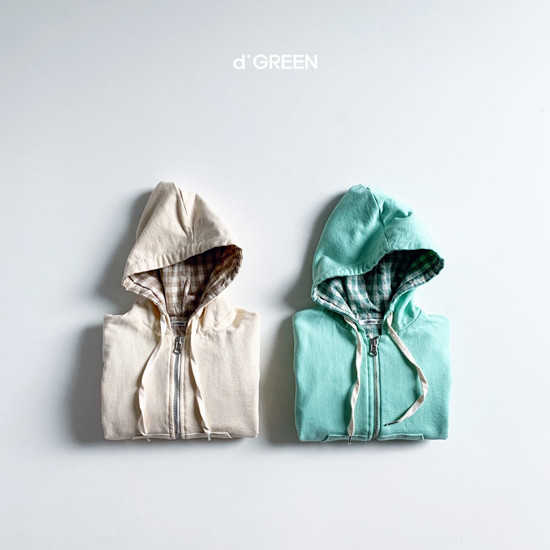 DIGREEN - Korean Children Fashion - #Kfashion4kids - Hood Reversible Zip-up Jacket