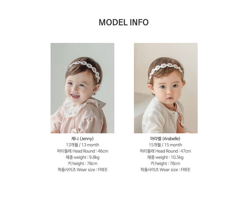 HAPPY PRINCE - Korean Children Fashion - #Kfashion4kids - Flower Lover Baby Hairband [set of 5] - 10