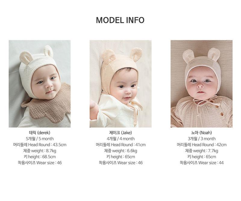 HAPPY PRINCE - Korean Children Fashion - #Kfashion4kids - Bebe Bear Bonnet - 11