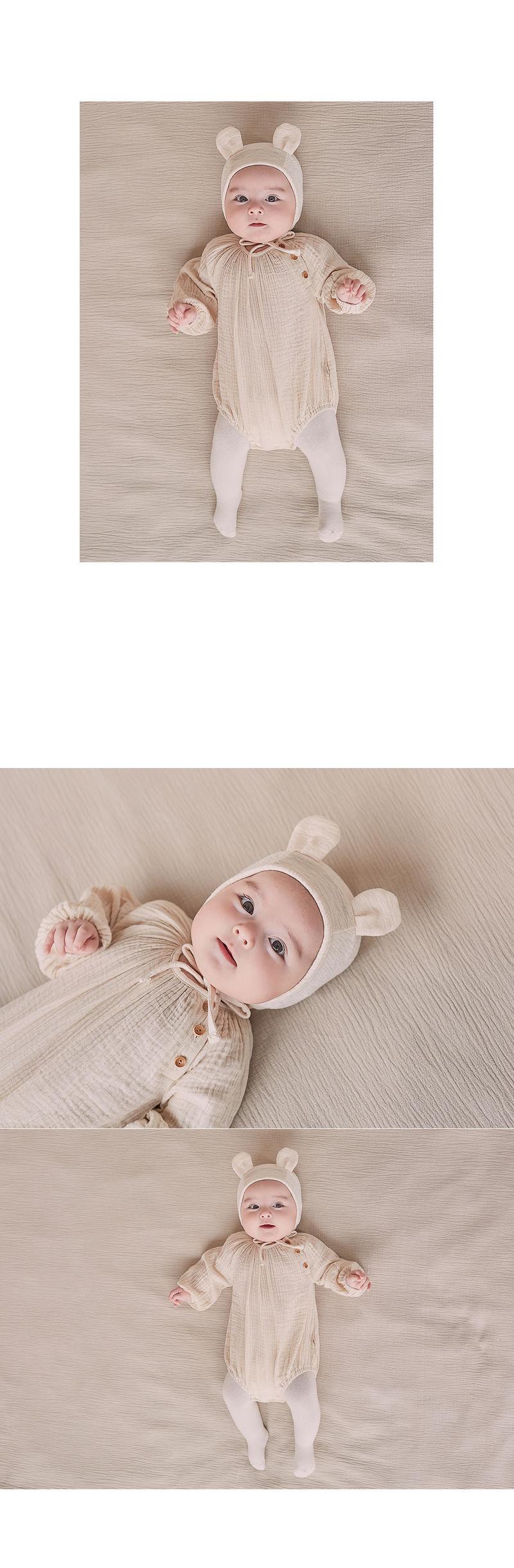 HAPPY PRINCE - Korean Children Fashion - #Kfashion4kids - Bebe Bear Bonnet - 3