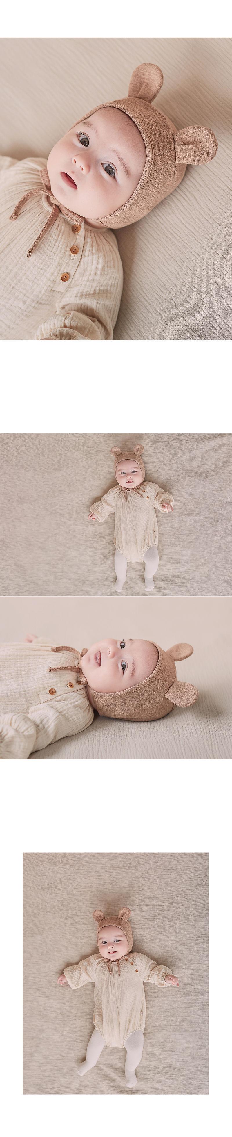 HAPPY PRINCE - Korean Children Fashion - #Kfashion4kids - Bebe Bear Bonnet - 5
