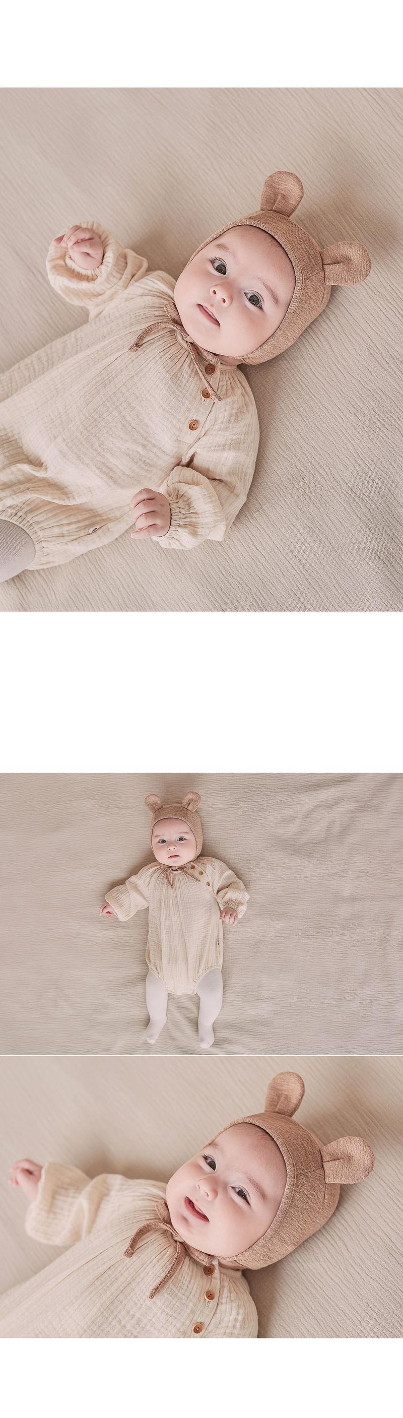 HAPPY PRINCE - Korean Children Fashion - #Kfashion4kids - Bebe Bear Bonnet - 6