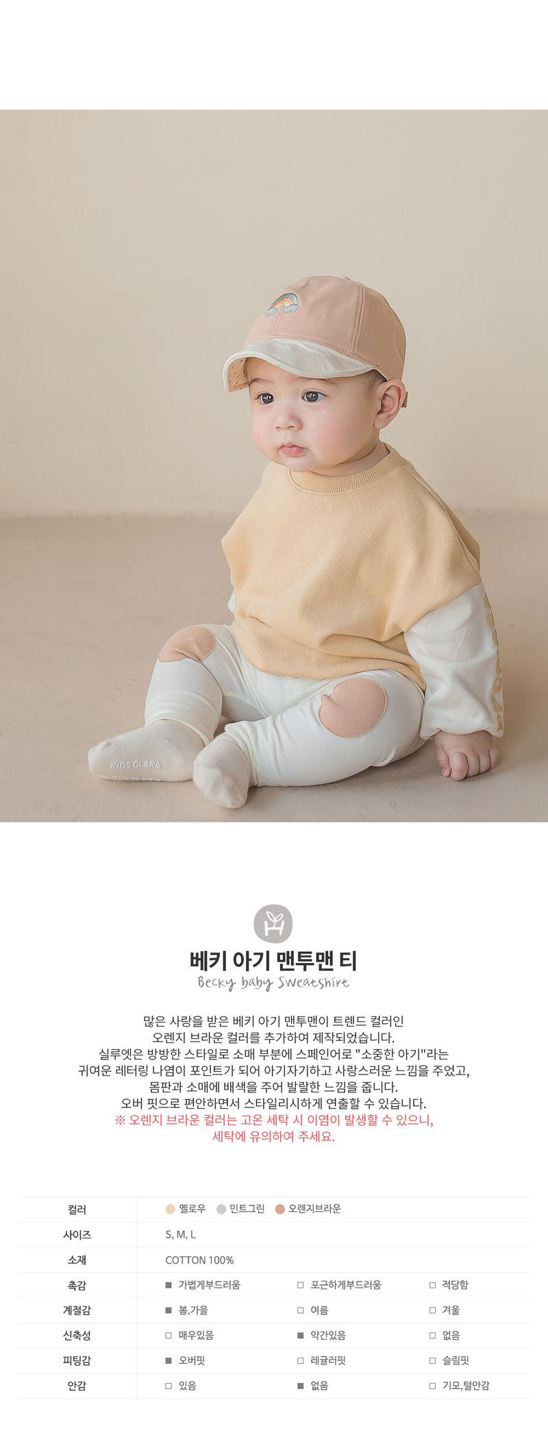 HAPPY PRINCE - Korean Children Fashion - #Kfashion4kids - Becky Baby Sweatshirt