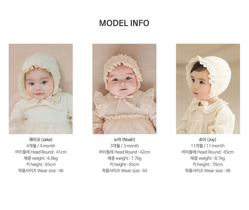 HAPPY PRINCE - Korean Children Fashion - #Kfashion4kids - Ellie Organic Baby Bonnet - 10