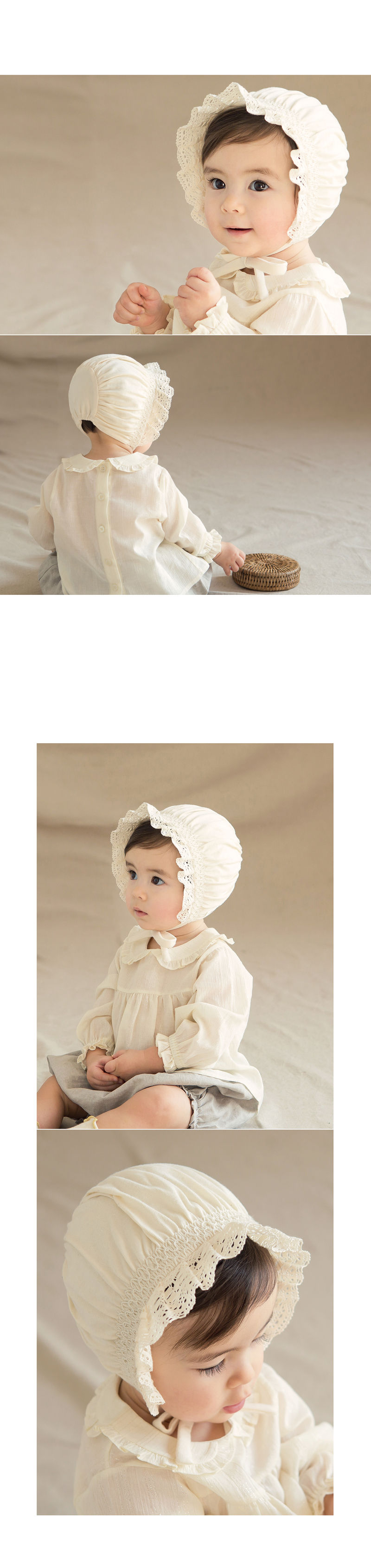 HAPPY PRINCE - Korean Children Fashion - #Kfashion4kids - Ellie Organic Baby Bonnet - 6