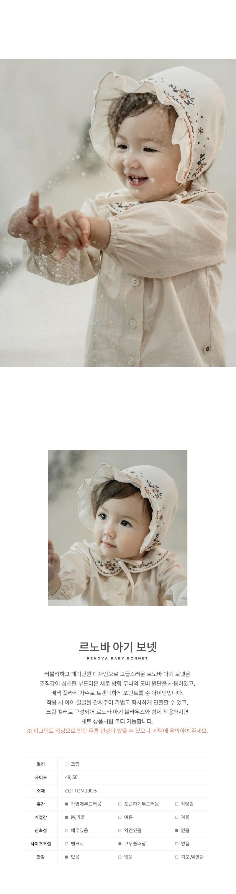 HAPPY PRINCE - Korean Children Fashion - #Kfashion4kids - Renova Baby Bonnet