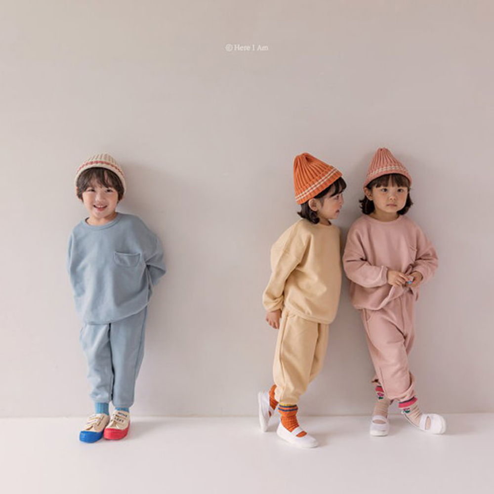 HERE I AM - BRAND - Korean Children Fashion - #Kfashion4kids - Weekly Top Bottom Set