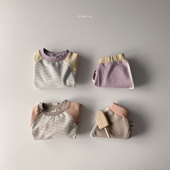 HERE I AM - Korean Children Fashion - #Kfashion4kids - Bonny Top Bottom Set