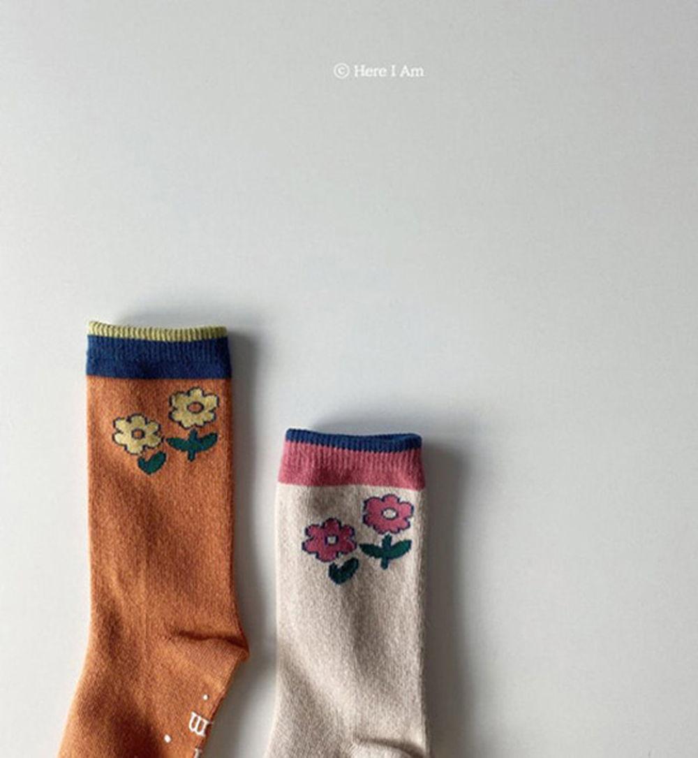 HERE I AM - BRAND - Korean Children Fashion - #Kfashion4kids - Flare Knee Socks [set of 2]