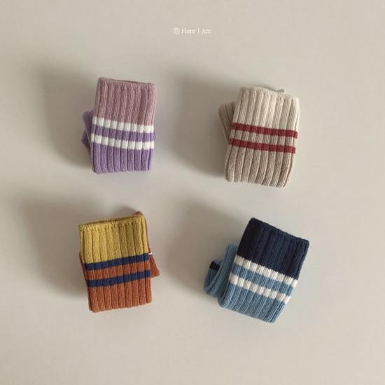 HERE I AM - Korean Children Fashion - #Kfashion4kids - Willie Knee Sockcs [set of 2]