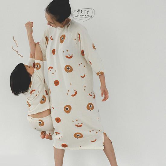 IKII - Korean Children Fashion - #Kfashion4kids - Adult Pumpkin One-piece - 2