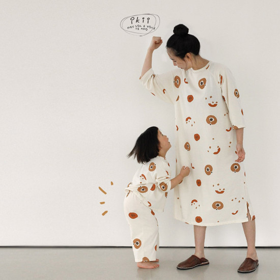 IKII - Korean Children Fashion - #Kfashion4kids - Adult Pumpkin One-piece - 3