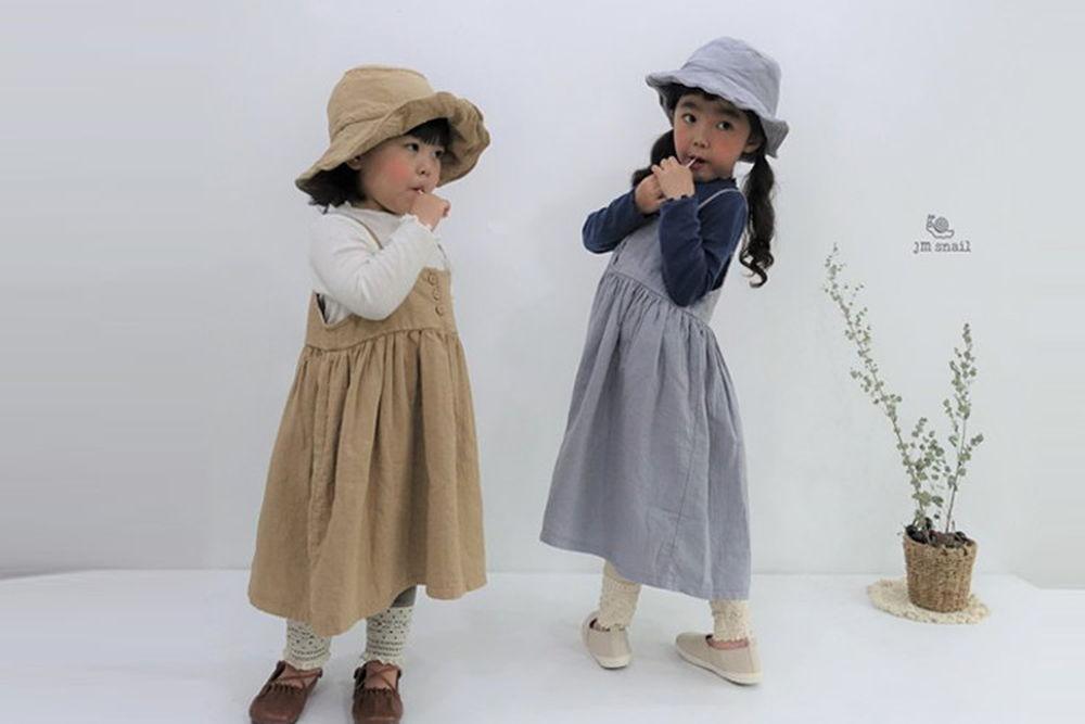 JM SNAIL - BRAND - Korean Children Fashion - #Kfashion4kids - Anna Vest One-piece