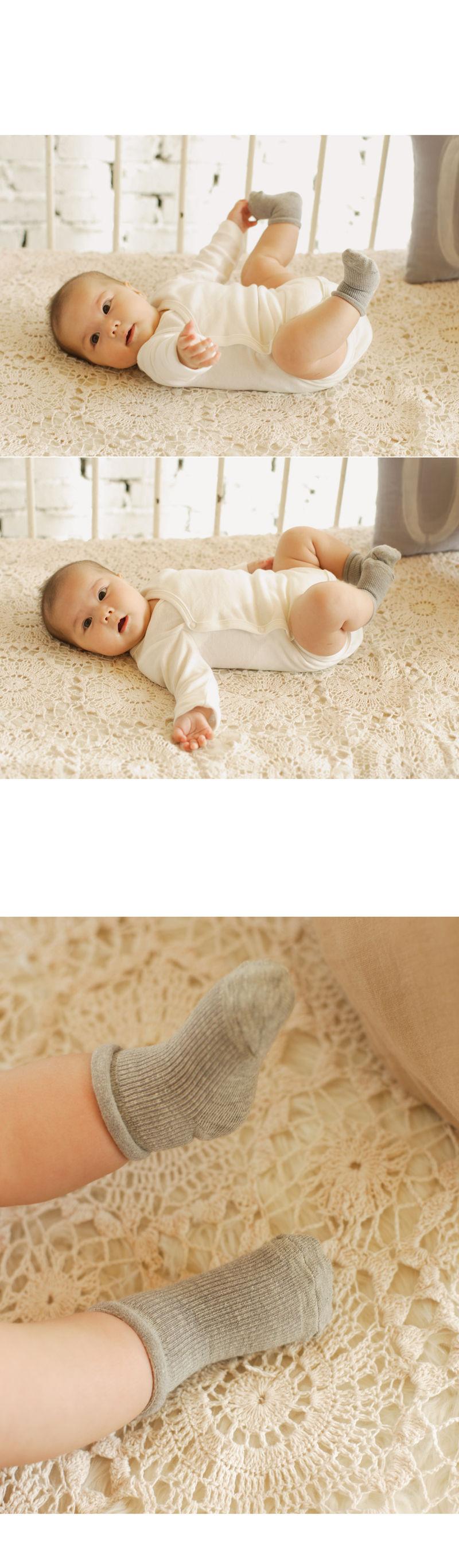 KIDS CLARA - Korean Children Fashion - #Kfashion4kids - Newborn Plain Socks Prince Set [set of 5] - 3