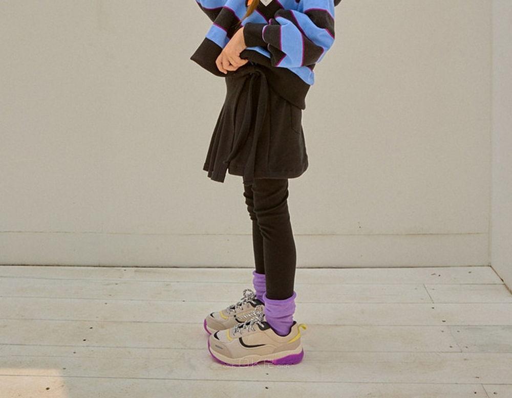 LILAS - Korean Children Fashion - #Kfashion4kids - Wrap Pleats Skirt Leggings