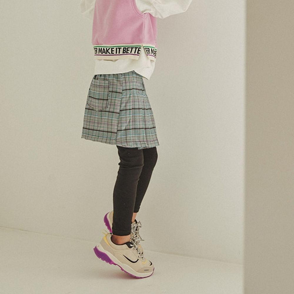 LILAS - BRAND - Korean Children Fashion - #Kfashion4kids - Wrap Pleats Skirt Leggings