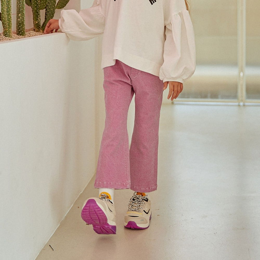 LILAS - BRAND - Korean Children Fashion - #Kfashion4kids - Macaron Bootscut Pants