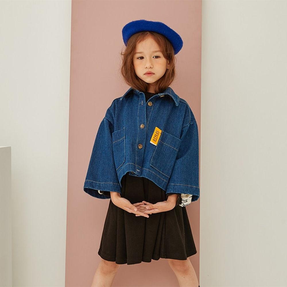 LILAS - BRAND - Korean Children Fashion - #Kfashion4kids - Minimal Denim Jacket